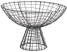 Madam Stoltz - Iron Wire Basket On A Stand