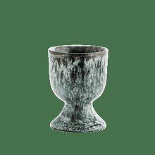 Madam Stoltz - Light Green and Black Stoneware Egg