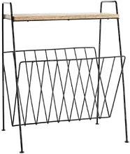 Madam Stoltz - Magazine Rack With Shelf -