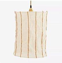 Madam Stoltz - Striped Linen Ceiling Lamp Off