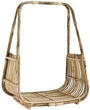 Madam Stoltz - Tall Open Cane Wood Basket