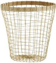 Madam Stoltz - Wire Basket With Wood Trim