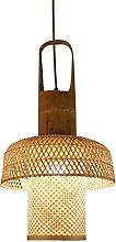 MADBLR7 Handwoven Bamboo Rattan Wicker Lantern