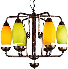 MADBLR7 Mid Century Colorful Lampshade Ceiling