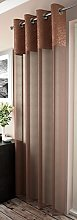 MADDY MODERN VOILE EYELET RING TOP CURTAIN PANEL