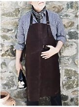 Made by Mama - Dark Brown Leather Apron - leather