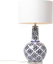 Made Goods - Miriam Table Lamp - Blue/White