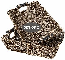 Made Terra 2 Packs Brown Wicker Baskets for