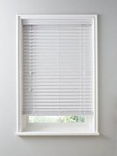 Made To Measure 50Mm Faux Wood Venetian Blinds - White