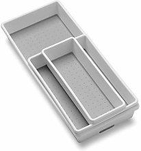 madesmart Classic 3-Tray Bin Pack - White |