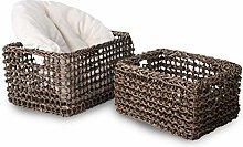 MadeTerra Set of 2 Rectangular Nesting Wicker