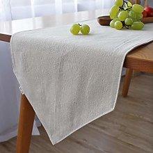 MADHEHAO White Linen Table Runner,Heavy Duty