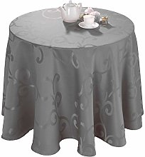 Madigan Coated Damask Tablecloth Oval 170 x 240 cm