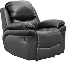 Madison Bonded Leather Recliner Armchair Sofa Home