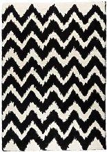 Madison Ivory/Black Area Rug