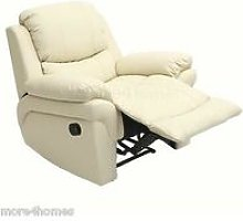 MADISON LEATHER RECLINER ARMCHAIR SOFA HOME LOUNGE