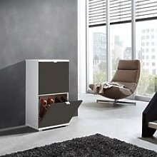 Madison Small Shoe Storage Cabinet With Basalt