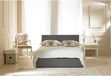 Madrid Grey Faux Leather Ottoman Small Double Bed