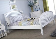 Madrid Rubberwood King Size Bed In White