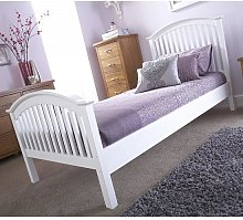 Madrid Rubberwood Single Bed In White