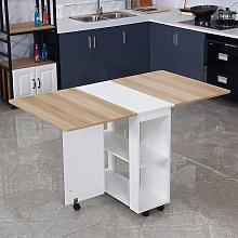 Maerex - Dining Table Folding Desk w/ 4X Stools