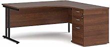 Maestro 25 right hand ergonomic desk with black