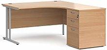 Maestro 25 right hand ergonomic desk with silver