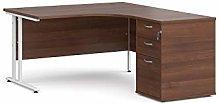 Maestro 25 right hand ergonomic desk with white