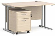 Maestro 25 silver frame straight desk – with 2