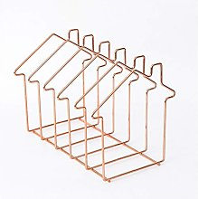 Magazine Holder,Rose Gold House Shape File Sorter