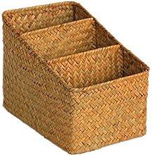 Magazine Rack Woven Storage Basket Home Living