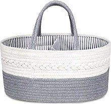 Magent Baby Diaper Caddy Organizer Cotton Rope