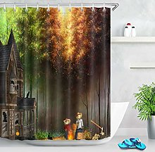 Magic Castle Forest Scarecrow Waterproof Shower