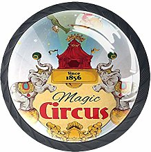 Magic Circus Tent Show Announcement Vintage Style