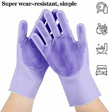 Magic Silicone Cleaning Gloves,Reusable Scrubber