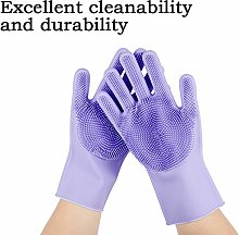 Magic Silicone Cleaning Gloves,Scrubber Gloves