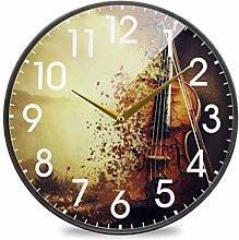 Magic Violin MusicRound Wall Clock Battery