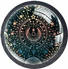 Magical Astrology Moon Cabinet Door Knobs Handles
