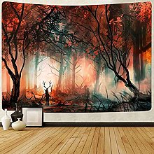 Magical Forest Tapestry Psychedelic Tree Plants