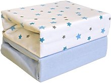 Magical Stars 2-Piece Fitted Cot Sheet Set