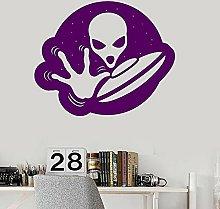 Magical Universe Wall Decal Alien UFO Vinyl Door