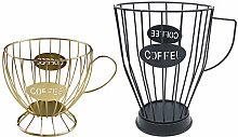 MagiDeal 2Pcs Large Capacity Coffee Pod Holder