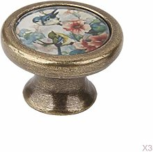 MagiDeal 3Pcs Assorted Round Cabinet Knobs Vintage