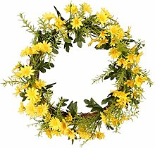MagiDeal Artificial Daisy Wreath Silk Flower