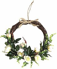 MagiDeal Artificial Flowers Wreath - Spring