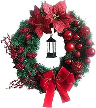 MagiDeal Christmas Wreath Merry Christmas Front
