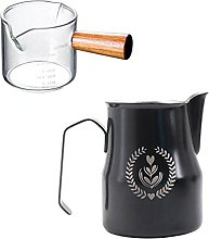 MagiDeal Coffee Milk Frothing Frother Cup+Espresso