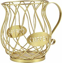MagiDeal Coffee Pod Holder, Capsule Storage Basket