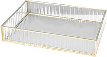 MagiDeal Glass Storage Tray Jewelry Organizer