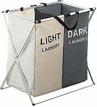 MagiDeal Laundry Basket Printed Dark Light Color,